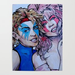 Jem and Dazzler - Kylie and Dannii Minogue Poster