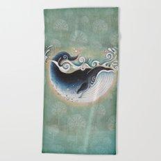 the Blue Whale Beach Towel