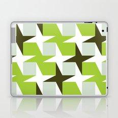 Green & brown stars & squares pattern Laptop & iPad Skin