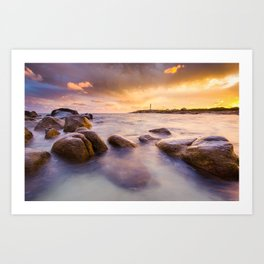 Golden Days Art Print