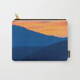 Utah Wasatch Mountains Park City Sunset Landscape Blue Orange Sky Carry-All Pouch