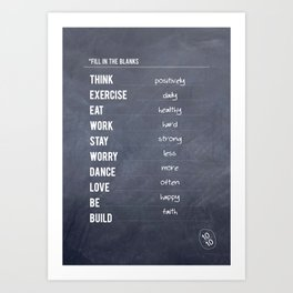 Lab No. 4 - Fill in the blanks.. Exercise timetable schedule Inspirational Quotes Poster Art Print