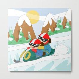 Winter Sports: Bobsleigh Metal Print