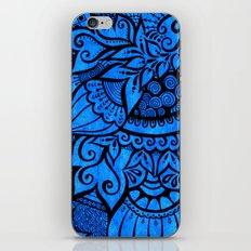 Tangle on blue iPhone & iPod Skin