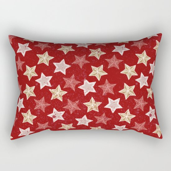 Festive Stars Rectangular Pillow