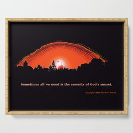 """God's Sunset"" with poem: Serenity Serving Tray"
