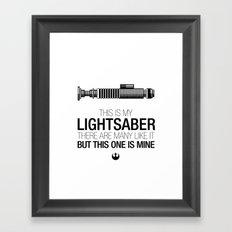 This is my Lightsaber (Luke Version) Framed Art Print