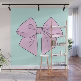 Ice Cream Pink Vector Bow Wall Mural