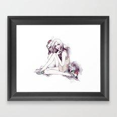 Picadilly Girl Framed Art Print