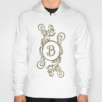 monogram Hoodies featuring Monogram B by Britta Glodde