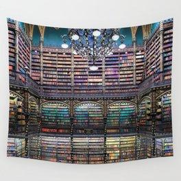 Library Real Gabinete Português de Leitura, Rio de Janeiro, Brazil Photograph Wall Tapestry