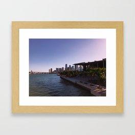 Partial Miami Skyline and Perez Art Museum Framed Art Print