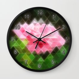 Pink Roses in Anzures 3 Art Triangles 2 Wall Clock
