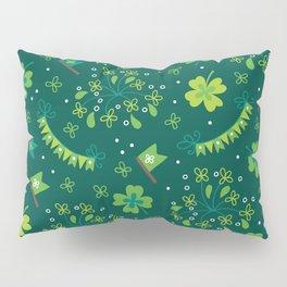 St Patrick's Day Lucky Shamrock Party Pillow Sham