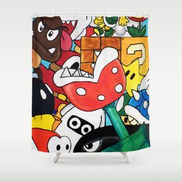 Super Mario Bros Shower Curtain