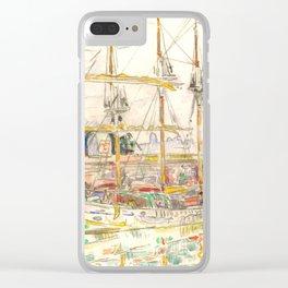 "Paul Signac ""Docks at Saint Malo"" Clear iPhone Case"