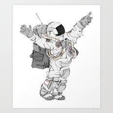Astronaut Welcoming Visitors Art Print