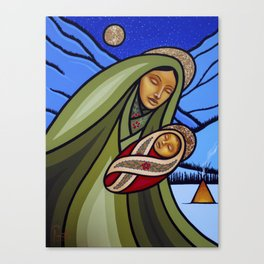 Mother and Child (Mountains) Canvas Print