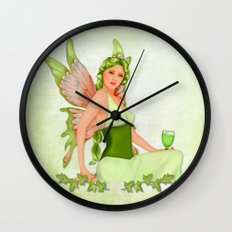 Absinthe the Green Fairy Wall Clock