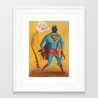 superman Framed Art Prints featuring superman by Robert Deutsch