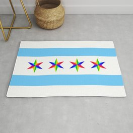 PRIDE Chicago Muni Flag Rug