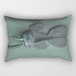 Green Fish Rectangular Pillow
