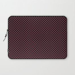 Tawny Port and Black Polka Dots Laptop Sleeve
