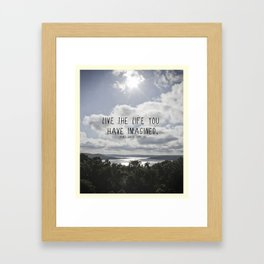 Live Your Life Framed Art Print