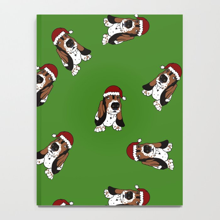 A Basset Full of Christmas Notebook
