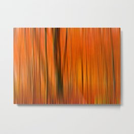 Fall forest (abstract) Metal Print