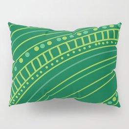 Green paths Pillow Sham