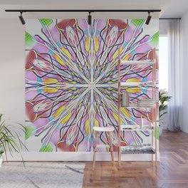 Stain Glass Kaleidoscope Wall Mural