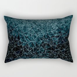 Polygonal blue and black Rectangular Pillow