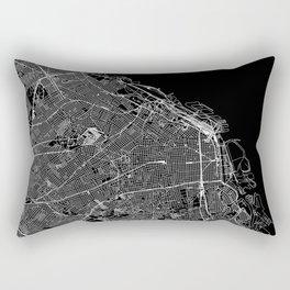 Buenos Aires Black Map Rectangular Pillow