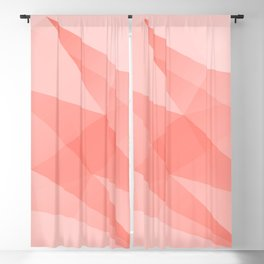 Pantone Living Coral Color of the Year 2019 on Abstract Geometric Shape Pattern Blackout Curtain