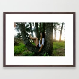 Tree Chair  Framed Art Print