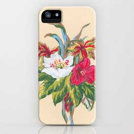 Red and White Bouquet iPhone Case