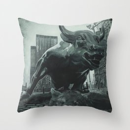 Triumph of the Bull Throw Pillow