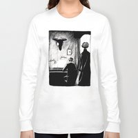221b Long Sleeve T-shirts featuring A 221B Scene by Carrianne Bullard