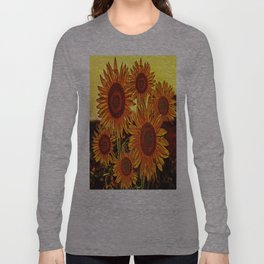 sunflowers family Long Sleeve T-shirt