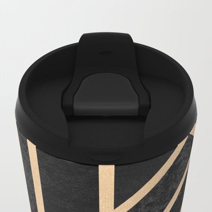 Art Deco Black Metal Travel Mug