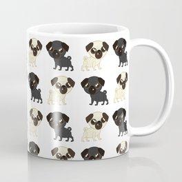 Pug Buddies. Adorable Pug Pattern Coffee Mug