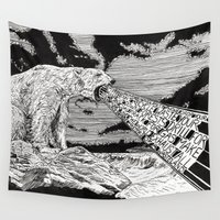 polar bear Wall Tapestries featuring Polar Bear by Meredith Mackworth-Praed
