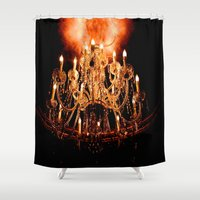 chandelier Shower Curtains featuring Chandelier by Jessica Lindstrom