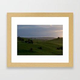 Rolling hills at the Wild Coast Framed Art Print