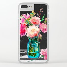Color in the Dark Clear iPhone Case