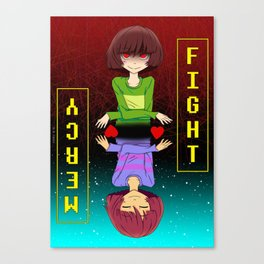 Undertale fight or mercy Canvas Print