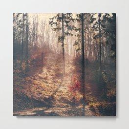 Little Red Tree Metal Print