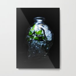 The Crystalline Skull Metal Print