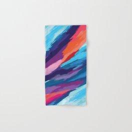 Colorful Brushstroke Digital Painting Hand & Bath Towel